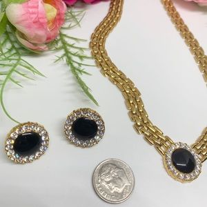Vintage Jewelry - HP⚜️VINTAGE Gold Chain Necklace & Earring Set